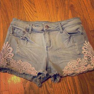 Girls Tractr Denim Shorts size 14